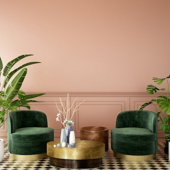 Design d'intérieur pour salon dans un style classique