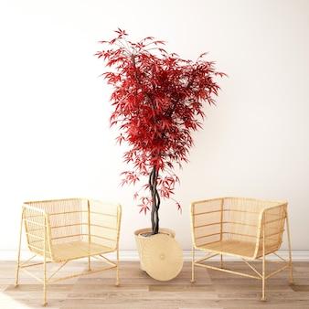 Design d'intérieur pour salon dans un style minimal