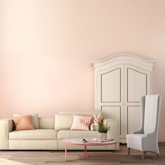 Design d'intérieur pour salon dans un style moderne