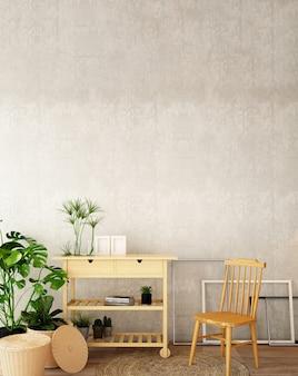 Design d'intérieur pour salon dans un style scandinave