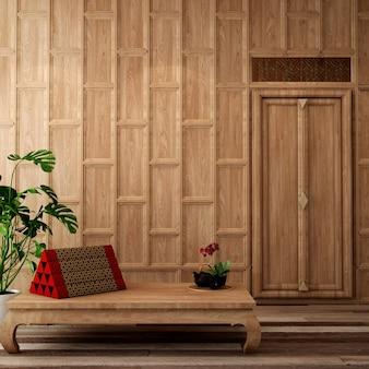 Design d'intérieur pour salon dans un style thaïlandais