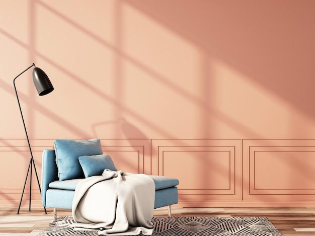 Design d'intérieur pour salon dans un style vintage