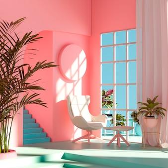 Design d'intérieur de salle 3d