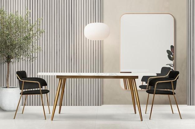 Design d'intérieur de salle à manger authentique de luxe moderne