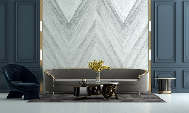 Design d'intérieur de salon de luxe et fond de mur de texture blanche