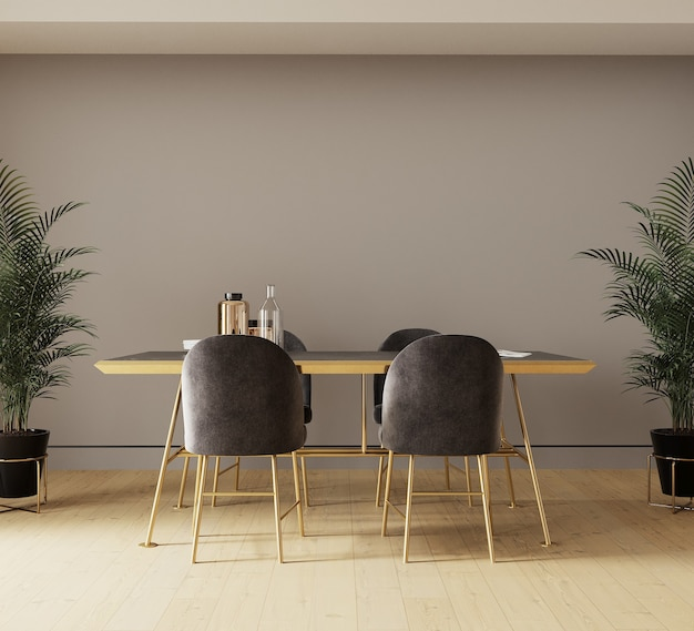 Design d'intérieur avec table à manger