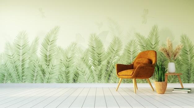 Design d'intérieur tropical du salon