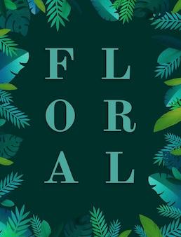 Design plat naturel floral de fleur