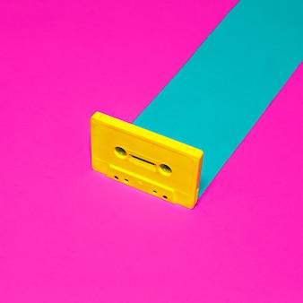 Design rétro vintage minimal. cassette audio