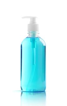 Désinfectant pour les mains en gel alcoolisé en flacon pompe transparent