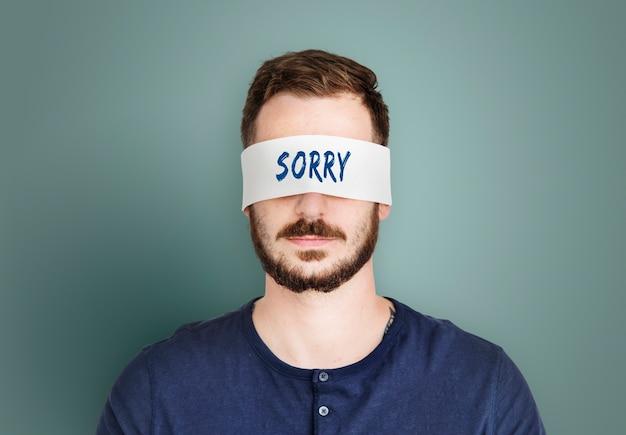 Désolé, pardonnez les sentiments d'une personne apologétique