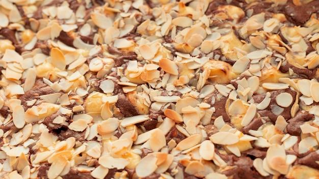 Dessert au chocolat délicieux à angle élevé