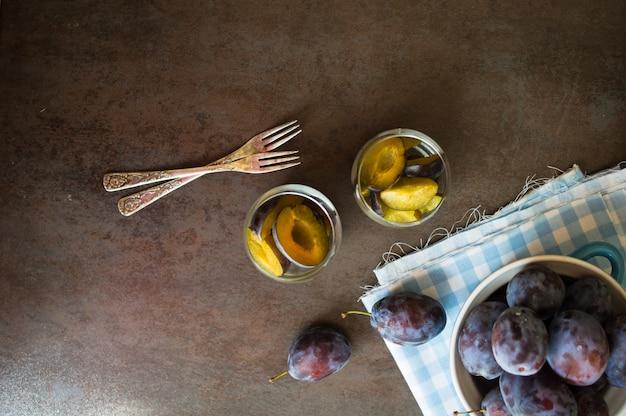 Dessert aux prunes