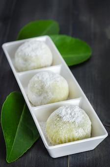 Dessert japonais daifuku mochi