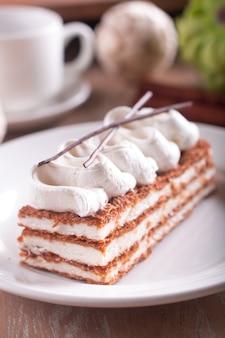 Dessert millefeuille à la crème de vanille