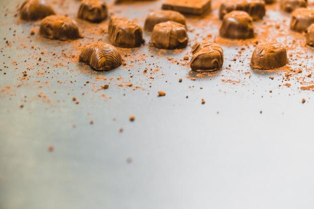 Dessert sucré au chocolat noir
