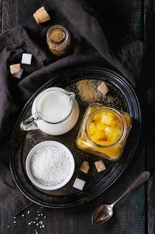 Dessert tapioca à la mangue