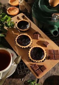 Dessert tarte au chocolat