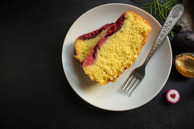 Dessert tarte aux prunes