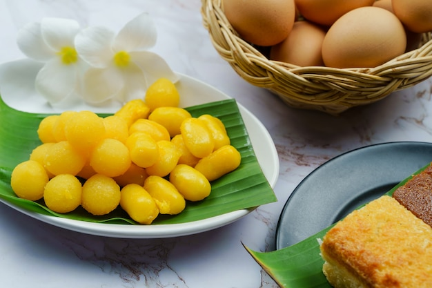 Dessert thaïlandais ou khanom thai.