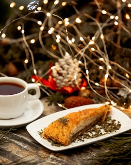 Dessert turc au thé noir
