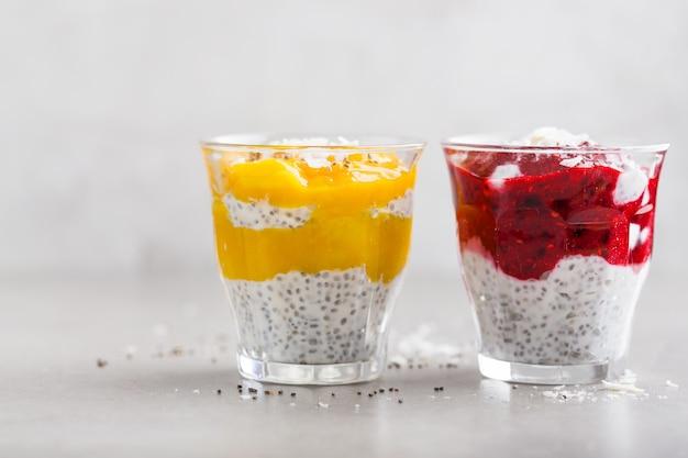 Desserts au yaourt santé aux graines de chia