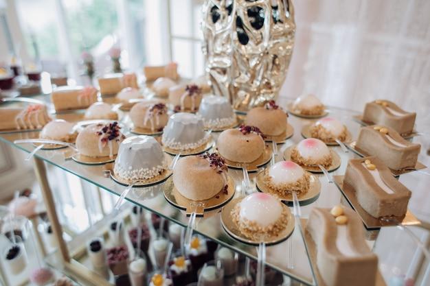 Desserts à la mode sur la barre de bonbons