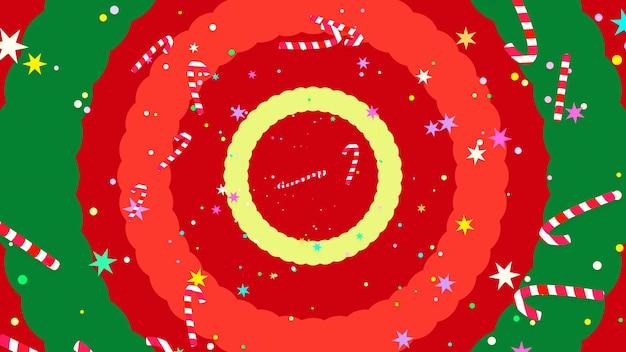 Dessin animé noël canne en bonbon motif de fond image de rendu 3d