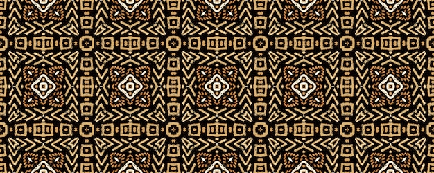 Dessin d'art africain. pays-bas style sans fin. conception sans fin bouclée. style hipster beige marron clair. texture infinie de batik. dessin d'art africain.
