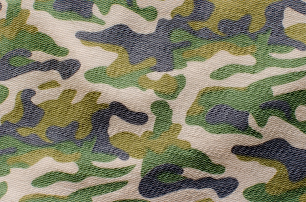 Dessine le tissu militaire