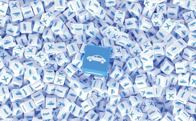 Dessiner à partir de nombreux cubes dispersés