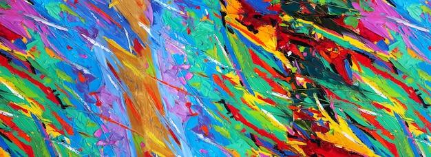 Dessinés à la main peinture colorée art abstrait panorama couleurs de fond texture design illustration
