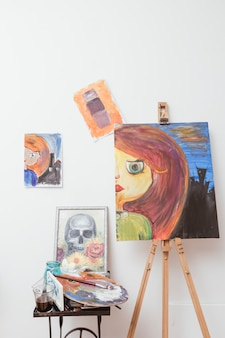 Dessins d'artiste en studio