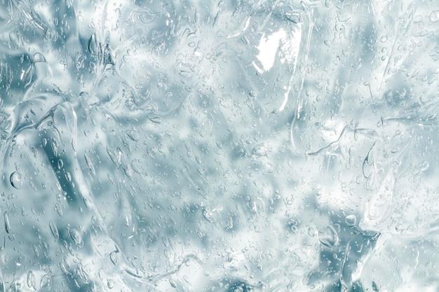De dessus en gros plan de gel hydroalcoolique