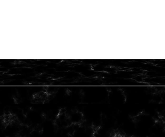 Dessus de table en marbre noir isolé