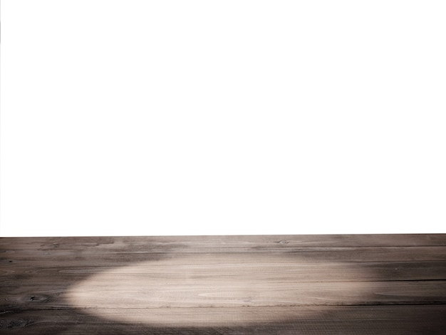Dessus de table vide avec fond isolé
