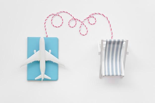 Destination d'avion pour les vacances