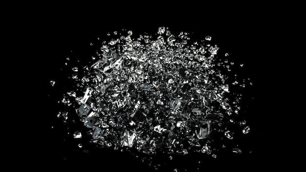 Destruction de la sphère de verre