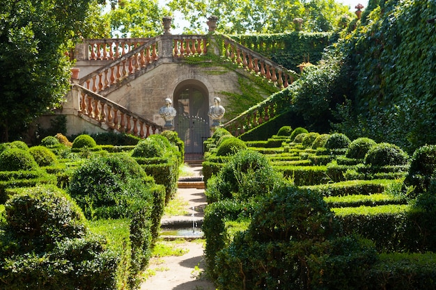 Desvalls palace at labyrinth park of horta