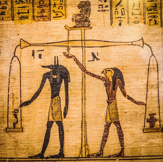 Détail de l'ancien livre des morts (1070 av. j.-c.), thèbes - egypte