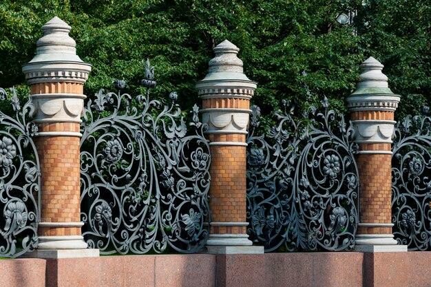 Détail architectural de l'église du sauveur sur le sang, saint-pétersbourg, russie