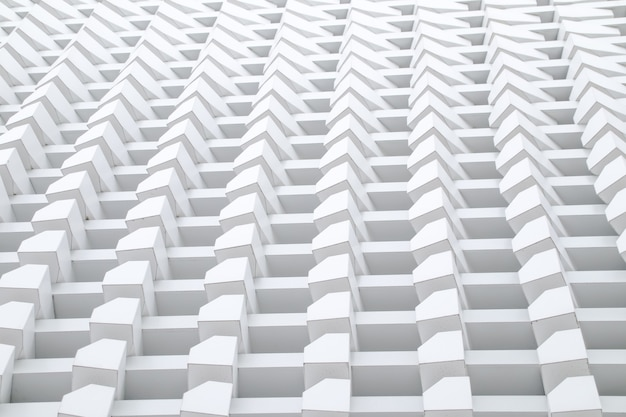 Détail de l'architecture construction de modèle de structure de tissage de boîte moderne