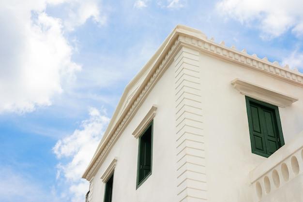 Détail des bâtiments d'architecture sino-portugaise