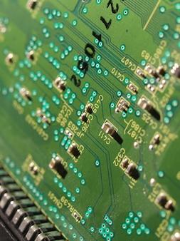 Détail d'un circuit imprimé électronique