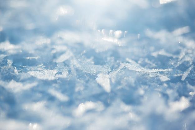 Détail de la congère. texture neige