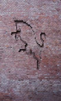 Détail du bâtiment à turin - italie. le taureau est le symbole de cette ville.