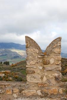 Détail du château médiéval de sperlinga, sicile