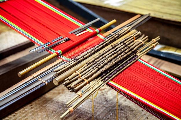 Détail du métier à tisser traditionnel