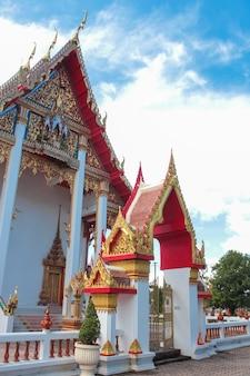 Détail du temple wat chalong en thaïlande