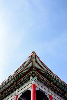 Détail du toit du pavillon chinois classique